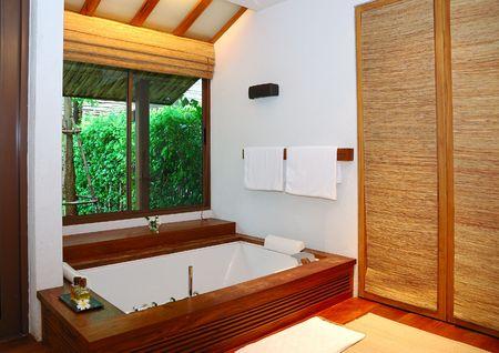 spa resort: Bathroom in the spa resort, Thailand