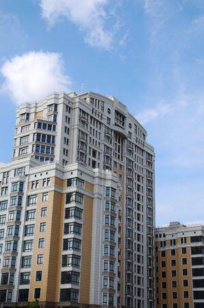 modern residential construction: modern residential construction against blue sky