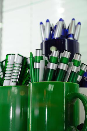 ballpoints: bunch of ballpoints in a cup Stock Photo