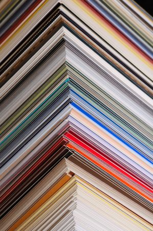 pasteboard: colored pasteboard corners of mat Stock Photo