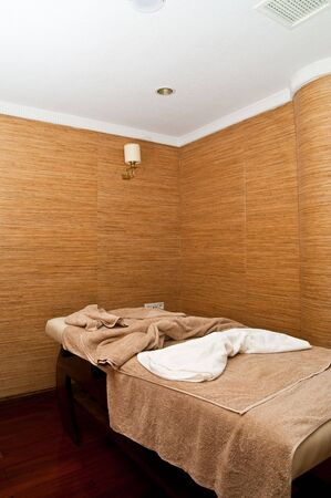 Massage treatment room in a spa photo