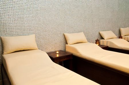 Massage treatment room in a spa hotel photo