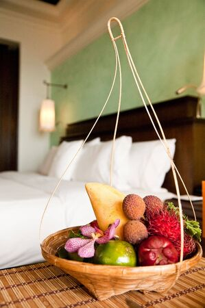 exotic fruits: exotic fruits in the hotel room