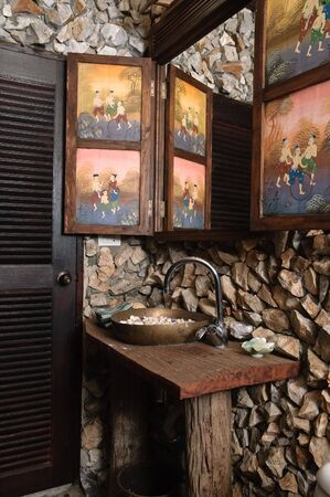 thai bathroom. Thai Style Bathroom With Stone Walls Stock Photo  Picture And Royalty Free Image 6174299