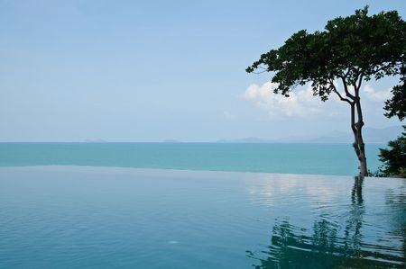 infinity pool: Luxurious open air swimming pool at resort