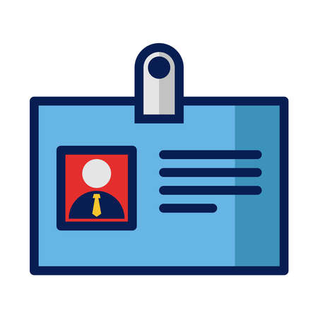ID card icon is an employee's identity in a company in the form of printed on small paper that is hung on the chest