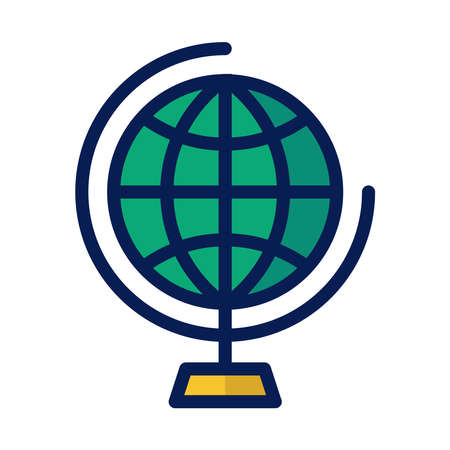 A globe icon is an imitation of the earth which covers all of its land and sea. and describe in accordance with the conditions that exist on earth including being used for the target market of a business. 向量圖像