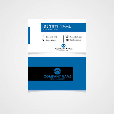 this business card with simple style is perfect for your real estate or property project.