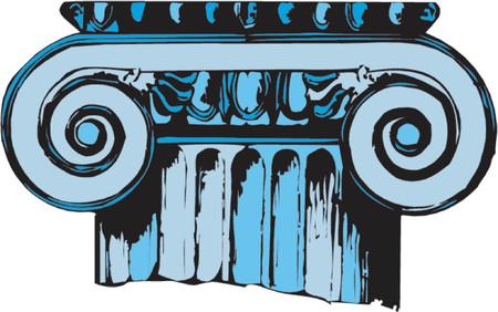 old ruin: column
