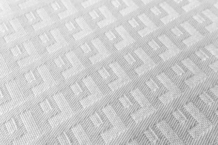 Close up table cloth, abstract pattern, white on white