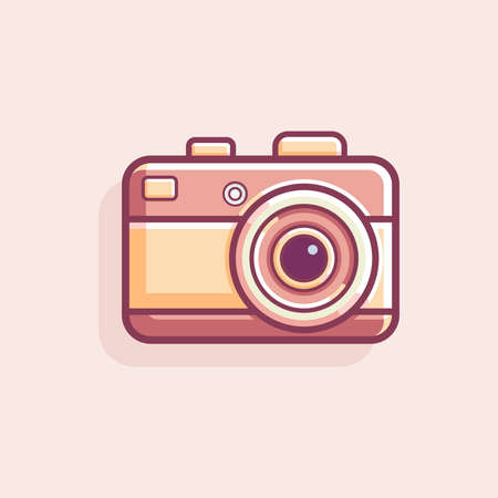Retro VIntage camera vector illustration, old camera vintage illustration, retro camera icon flat vector illustration Illusztráció