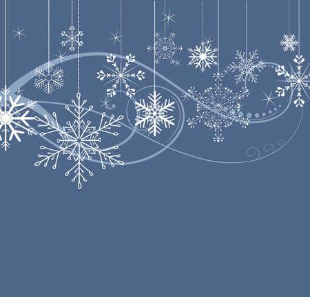 winter fun: stijlvolle achtergrond met sneeuwvlokken