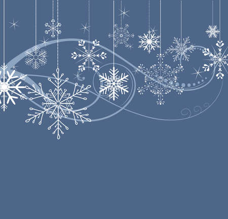 winter wallpaper: stylish background with snowflakes  Illustration