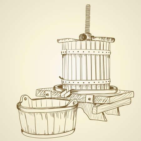 grape juice: Old wine press