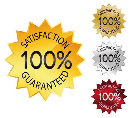 Seal 100% satisfaction guaranteed