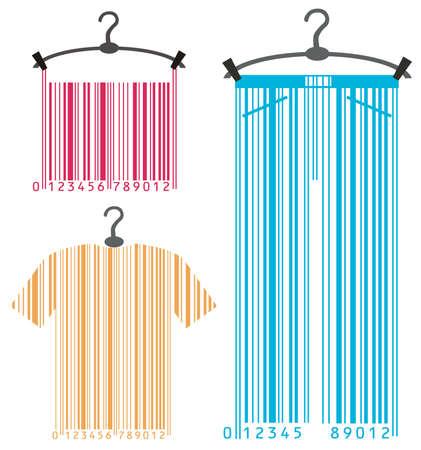 kleding-hanger en barcode