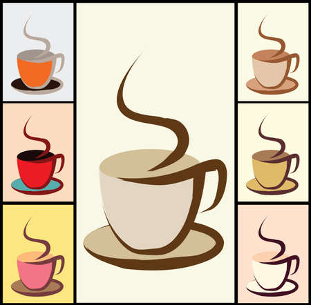 coffee crop: coffee cup with color variations