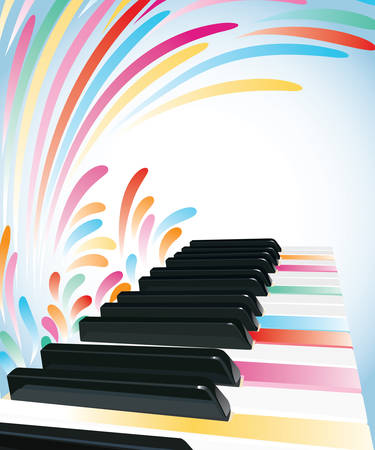 Multicolored piano background Stock Vector - 8315018