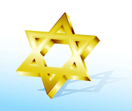 golden Star of David Stock Vector - 8291463