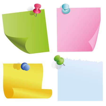 carta da lettere: elementi di colore bianco con perni