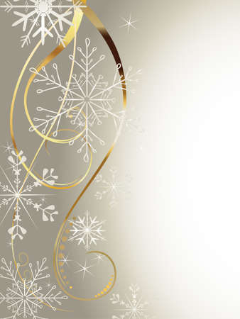snowflakes and curves on a winter background Illustration