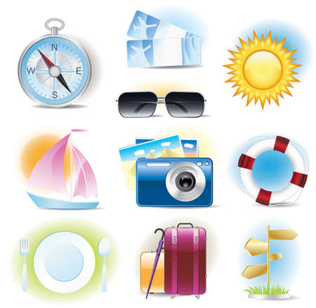 travel icons Stock Vector - 8420031