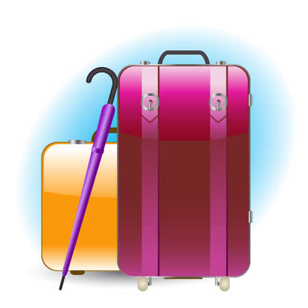 packing suitcase: bagagli Vettoriali