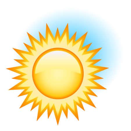 sizzling: sun Illustration
