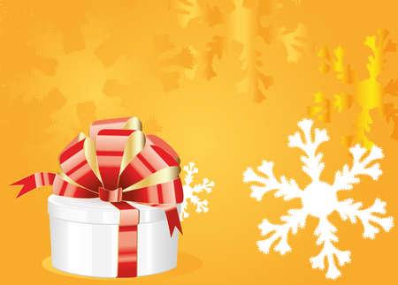 gift op winter achtergrond