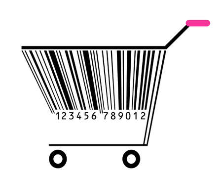 basket with bar-code Vector