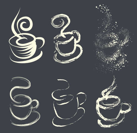 coffee crop: coffee cup with variations