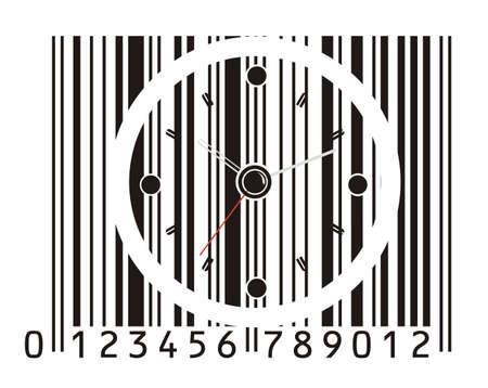 ean: office clock in barcode
