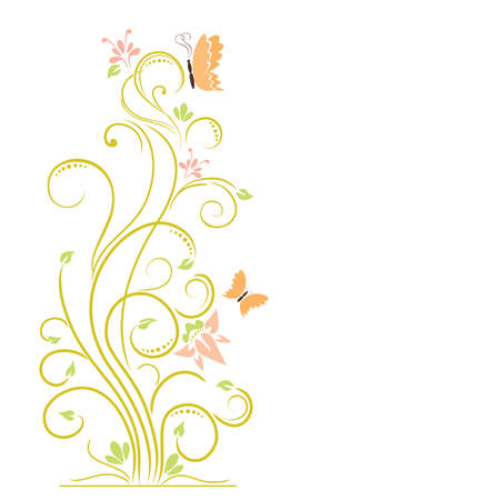 abstract floral elements
