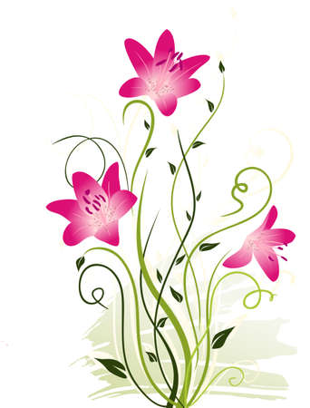 abstract floral elements Stock Vector - 9837341