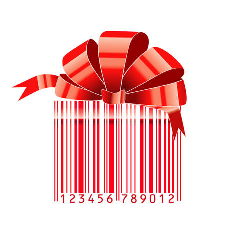 gift stylized with bar-code  Vector