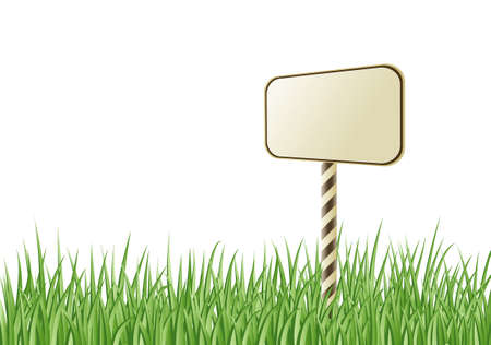 sign in the grass Stock Vector - 9837419