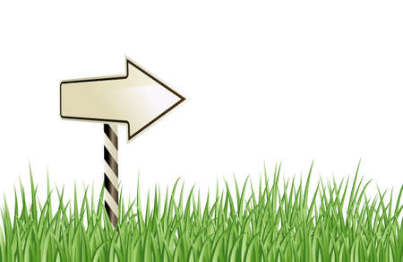 sign in the grass  Vector