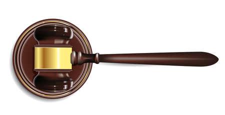 verdict: judge gavel Illustration