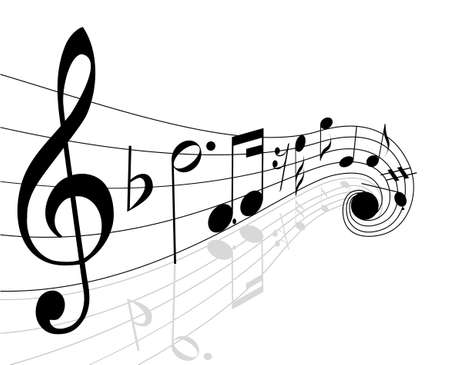 musical instrument parts: musical notes Illustration