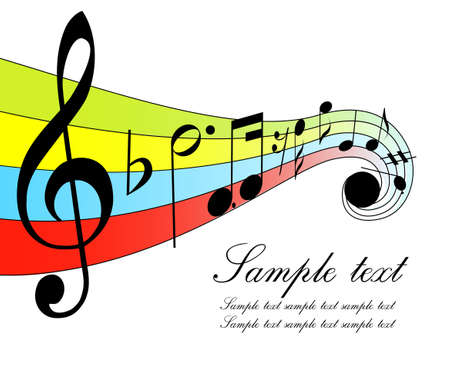 music notation: musical notes Illustration