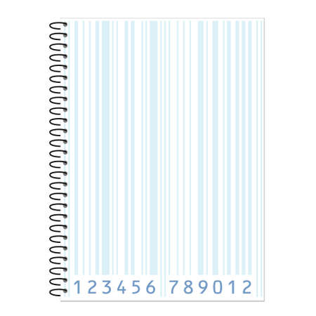 sheet with bar-code  Stock Vector - 9837375