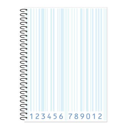 sheet with bar-code  Vector