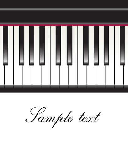 clavier: piano keys