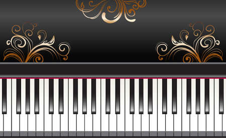 music score: piano keys