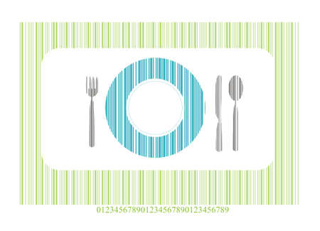 ean: Place setting with knife, plate, spoon  Illustration