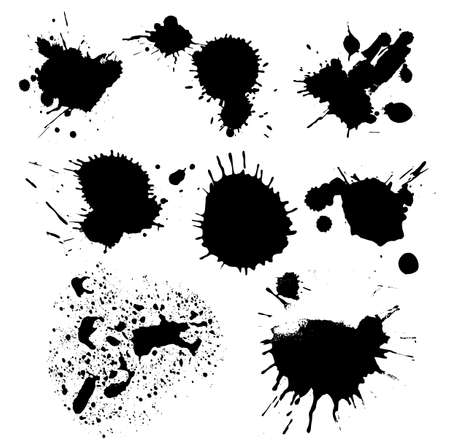 set of ink blots Illustration
