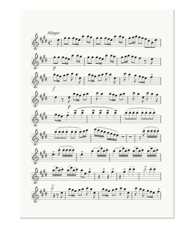 spartiti: vecchio foglio di musica nota Vettoriali