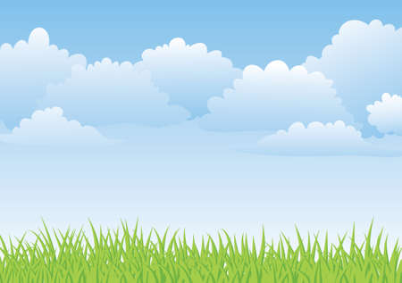 cloud sky: springtime background Illustration