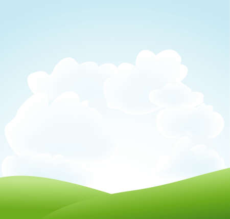 grassland: springtime background Illustration