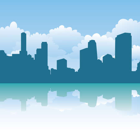 urban silhouette Vector